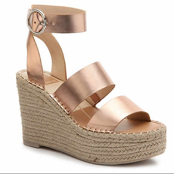 3cd08b083c Dolce Vita Shoes | Shae Espadrille Platform Wedge Sandal Rose Gold ...
